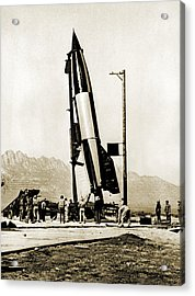 V-2 Rocket Prior To First Us Launch Acrylic Print by Detlev Van Ravenswaay