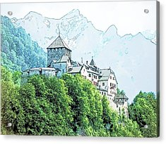 Vaduz Castle Vaduz Lichtenstein Acrylic Print by Joseph Hendrix