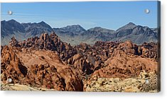 Valley Of Fire 2 Of 4 Acrylic Print by Gregory Scott