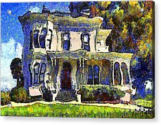 Van Gogh Visits The Old Victorian Camron-stanford House In Oakland California . 7d13440 Acrylic Print by Wingsdomain Art and Photography