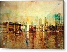Vancouver Water Color Acrylic Print by Barbara  White