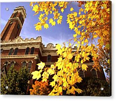 Vanderbilt Kirkland Hall In The Fall Acrylic Print by Vanderbilt University