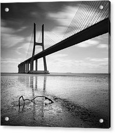 Vasco Da Gama Bridge I Acrylic Print by Nina Papiorek
