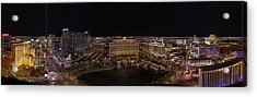Vegas Strip From Eiffel Tower Acrylic Print by Metro DC Photography