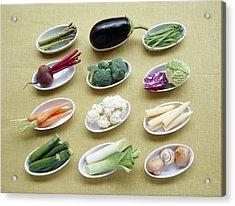 Vegetables Acrylic Print by Veronique Leplat
