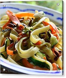 Veggie Ribbon Pasta Acrylic Print by Anne Babineau