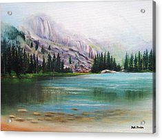Veil Over Elk Lake Acrylic Print by Patti Gordon