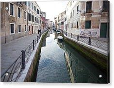 Venetian Canal - Selective Focus  Acrylic Print by Tilman Winkler