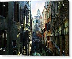 Venetian Canal Acrylic Print by Jan Vidra