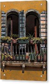 Venice Balcony Acrylic Print by Tom Prendergast