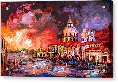 Venice Canal Italy  Acrylic Print by Ginette Callaway