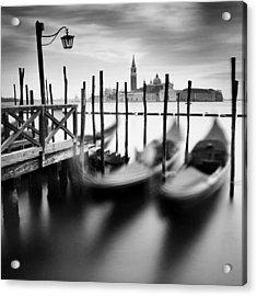 Venice Gondolas Acrylic Print by Nina Papiorek