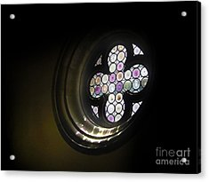 Venice Italy - Rose Window Acrylic Print by Gregory Dyer