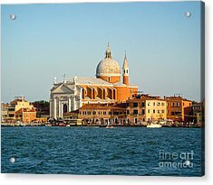 Venice Italy - San Giorgio Maggiore Island Acrylic Print by Gregory Dyer