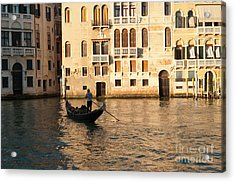 Venice Sunset Acrylic Print by Andrew  Michael