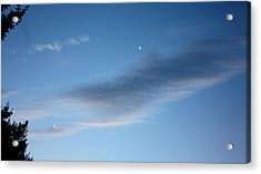 Venus And Crescent Moon Acrylic Print by Kathleen Horner