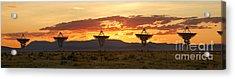 Very Large Array At Sunset Acrylic Print by Matt Tilghman