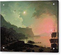 Vesuvius From Posillipo Acrylic Print by Joseph Wright of Derby