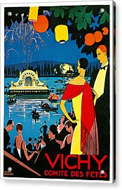 Vichy Comite Des Fetes Acrylic Print by Roger Broders