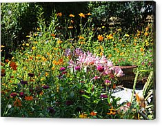 Victorian Summer Garden Acrylic Print by Theresa Willingham