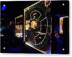 View Of A Radar Scope Aboard Acrylic Print by Everett