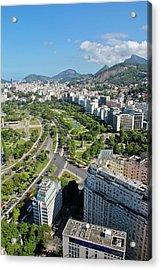 View Of Aterro Do Flamengo Acrylic Print by Ruy Barbosa Pinto