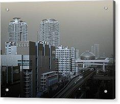 View Of Modern Tokyo Acrylic Print by Naxart Studio