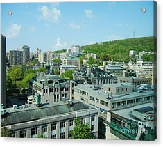 View Of Montreal  From Royal Victoria College Acrylic Print by Reb Frost