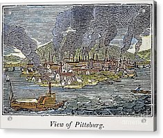 View Of Pittsburgh, 1836 Acrylic Print by Granger