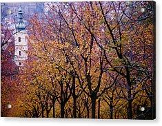 View Of Prague From Mala Strana Park Acrylic Print by Axiom Photographic