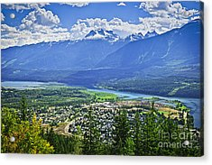 View Of Revelstoke In British Columbia Acrylic Print by Elena Elisseeva