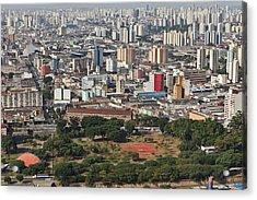 View Of Sao Paulo Skyline Acrylic Print by Jacobo Zanella