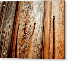 View Of Wooden  Ply Acrylic Print by Veronique Regimbal photographie