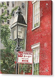 Village Lamplight Acrylic Print by Debbie DeWitt
