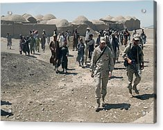 Villagers From Nojoy Outside Kandahar Acrylic Print by Everett