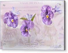 Ville De Paris Acrylic Print by Sandra Rossouw
