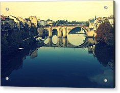 Villeneuve Sur Lot's River Acrylic Print by Georgia Fowler