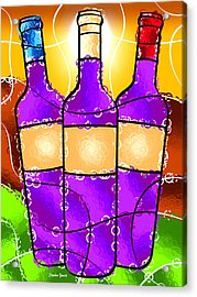 Vino Acrylic Print by Stephen Younts