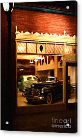 Vintage American Car Dealership - 7d17398 Acrylic Print by Wingsdomain Art and Photography