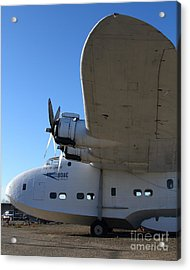 Vintage Boac British Overseas Airways Corporation Speedbird Flying Boat . 7d11290 Acrylic Print by Wingsdomain Art and Photography