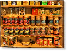 Vintage Canned Goods - General Store Vintage Supplies - Nostalgia Acrylic Print by Lee Dos Santos