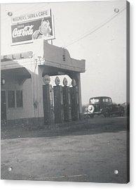Vintage Coca Cola And Gas Acrylic Print by Alan Espasandin