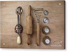 Vintage Cooking Utensils Acrylic Print by Nailia Schwarz