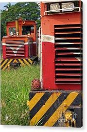 Vintage Diesel Engines Acrylic Print by Yali Shi