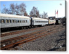 Vintage Railroad Trains . 7d11623 Acrylic Print by Wingsdomain Art and Photography
