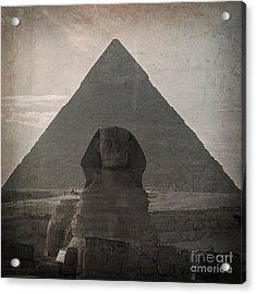 Vintage Sphinx Acrylic Print by Jane Rix