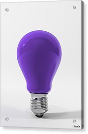 Violet Lamp Acrylic Print by BaloOm Studios