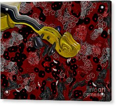 Violinelle - V02-12a Acrylic Print by Variance Collections