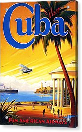 Visit Cuba Acrylic Print by Reproduction