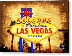 Viva Las Vegas Acrylic Print by Kevin Moore